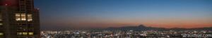 都庁と富士山