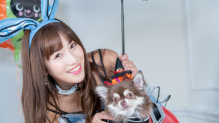 2018/10/28 NewType撮影会 空陸海ゆきな バニーガール 愛犬キキ