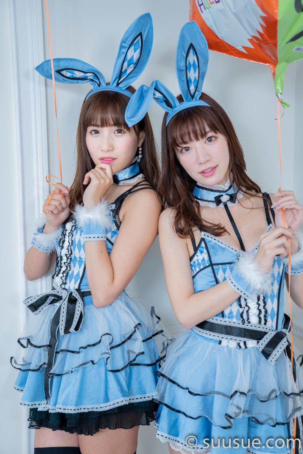 2018/10/28 NewType撮影会 小嶋みやび&空陸海ゆきな バニーガール