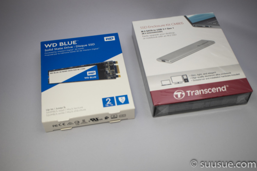 2TB SSDのWDS200T2B0BとUSBケースTS-CM80S