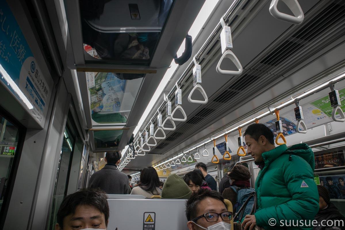 東京モノレール車内