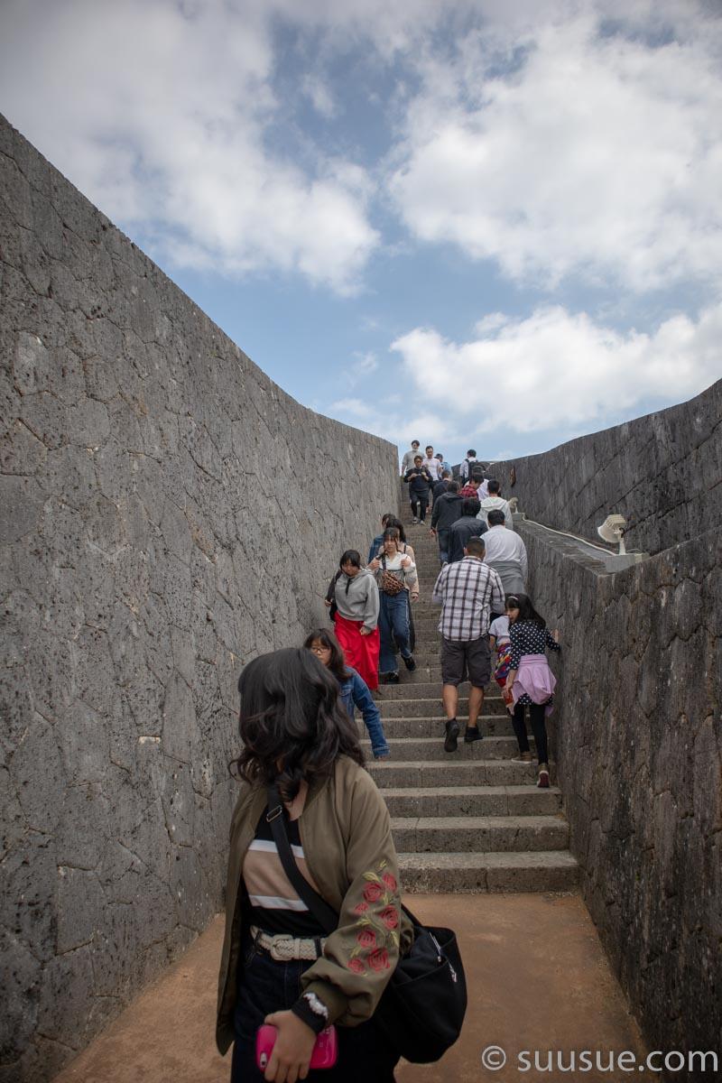 首里城 東のアザナ(見張台)上り道