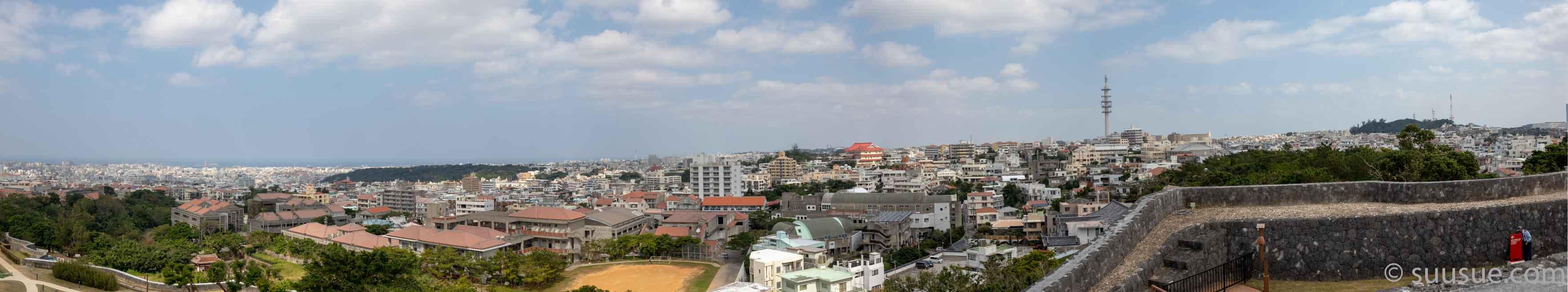 首里城 東のアザナから東側