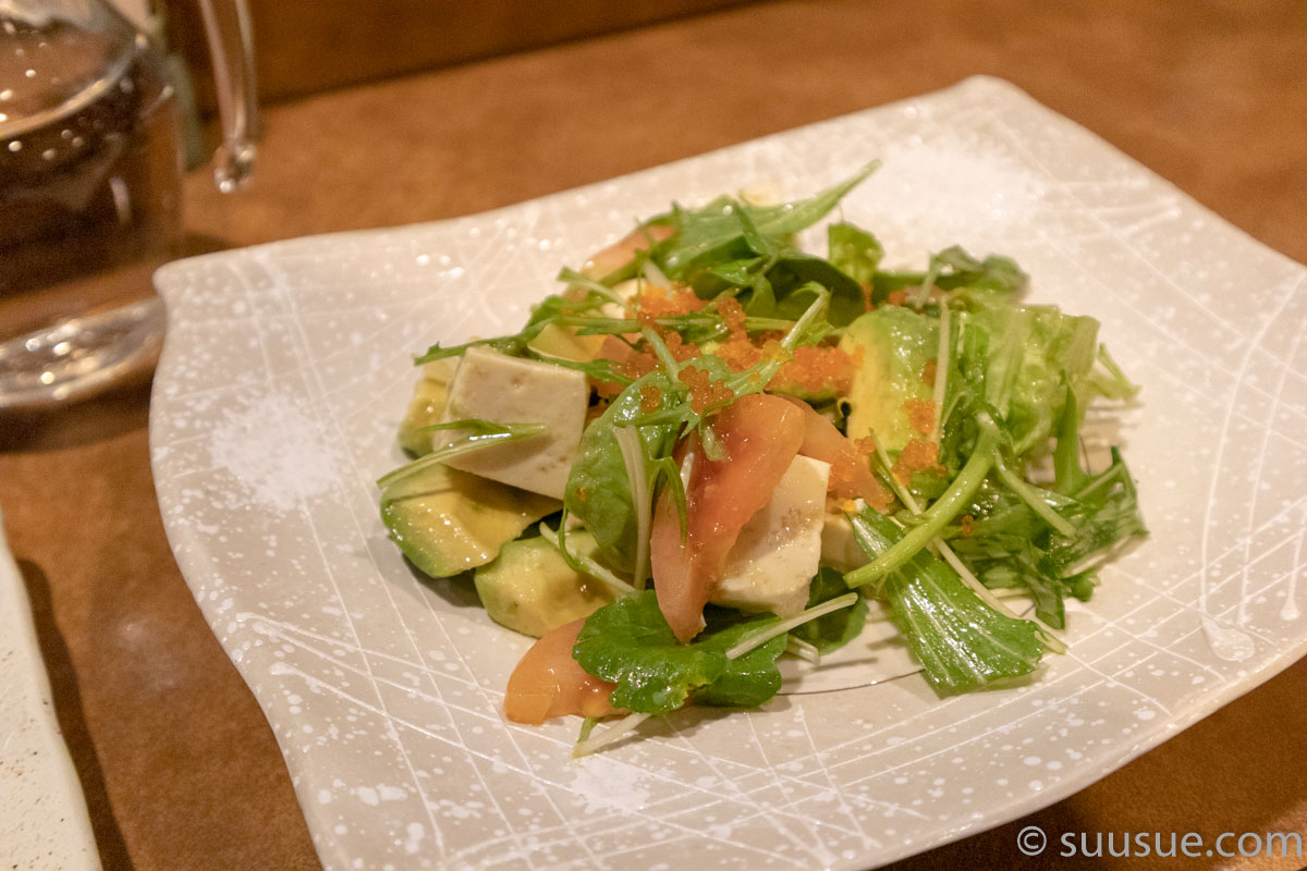 ほろよいと家庭料理 郷 アボガドと島ぶどうのサラダ