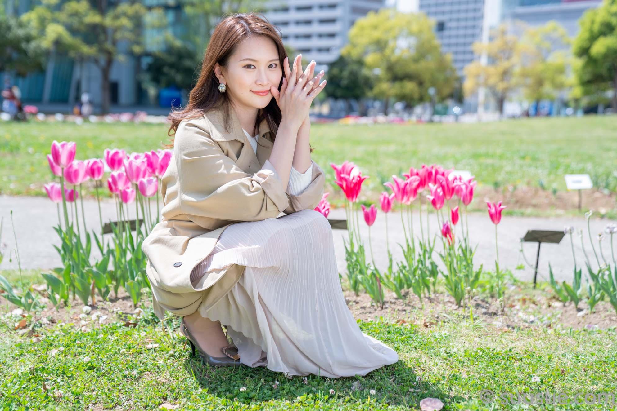 福江菜々華 2019/04/20 NewType撮影会 シンボルプロムナード公園