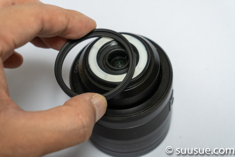 EF-M28mm F3.5 マクロ is stmにはフィルターが取り付けられない